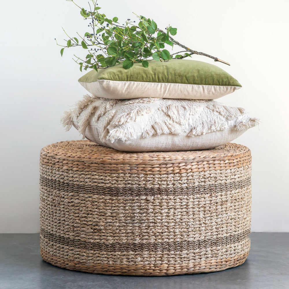 Hyacinth & Seagrass Ottoman/Table
