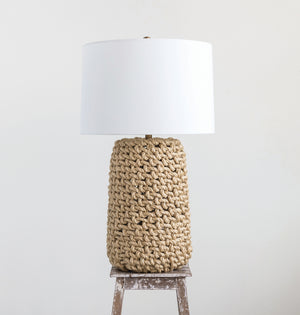 Large Jute Rope Table Lamp