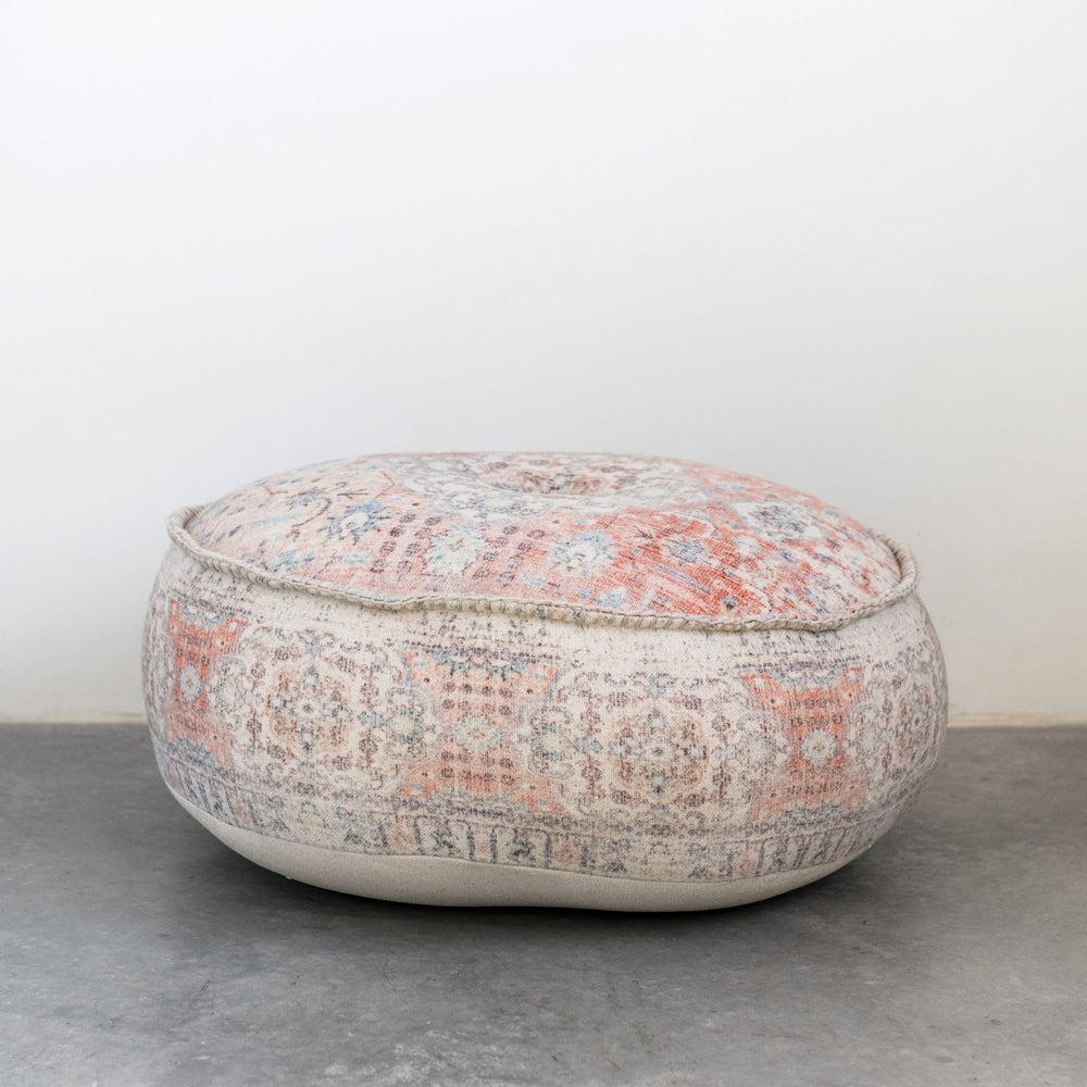 vintage distressed pouf