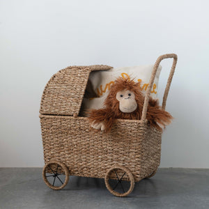 Load image into Gallery viewer, Handwoven Doll Bassinet Stroller