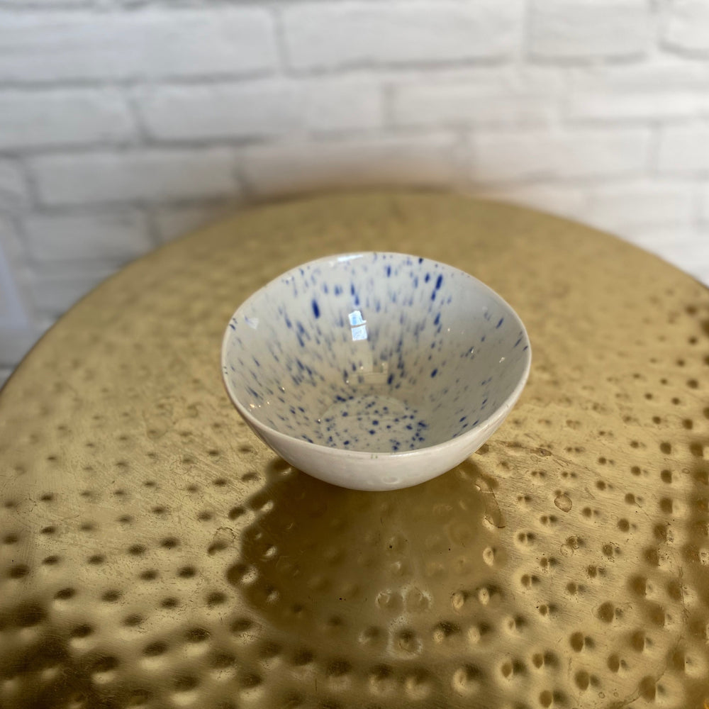 Blue & White Speckle Dish