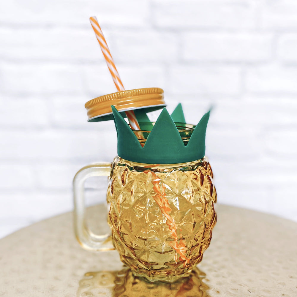 Load image into Gallery viewer, Pineapple Mason Jar Cup