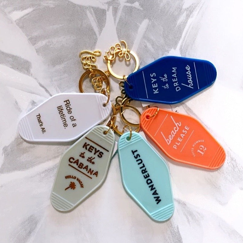 Vintage Motel Key Tags