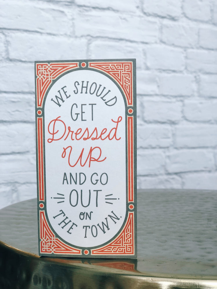 DRESSED UP Card