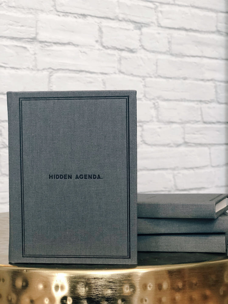 HIDDEN AGENDA notebook