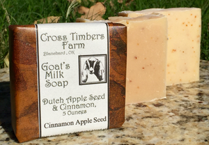 Dutch Apple Seed and Cinnamon Goats Milk Soap 5 oz