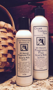 Fragrance Free Goat's Milk Lotion 4oz