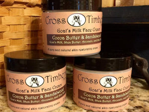 Cocoa Butter Sandalwood Goats Milk Face Cream 2oz