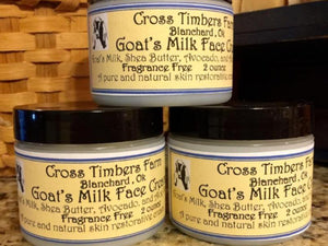 Fragrance Free Goat's Milk Face Cream 2oz