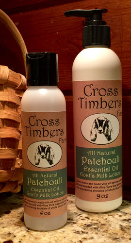 Patchouli Essential Oil Goats Milk Lotion 9oz