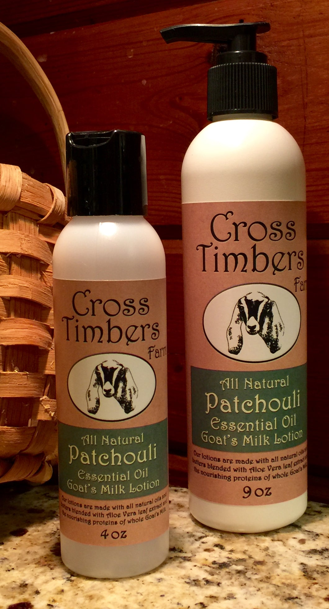 Patchouli Essential Oil Goat's Milk Lotion 4oz
