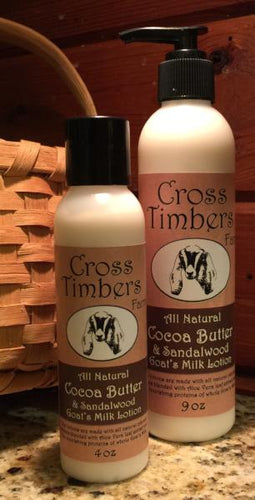 Cocoa Butter and Sandalwood Goats Milk Lotion 9oz