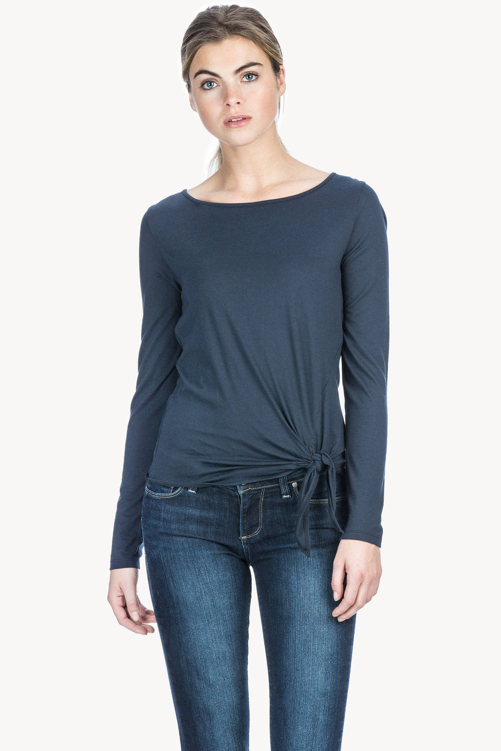 d89076dbc20 Long Sleeve Tie Front Womens Top Dusk A1 ...