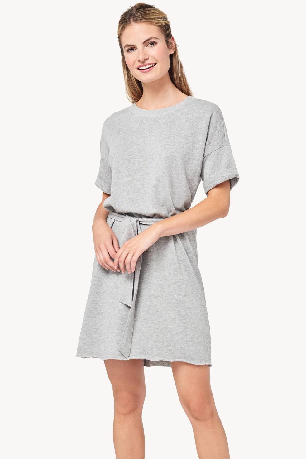 6658ca7c9d2 Short Sleeve Dress Womens Dress Heather Grey A1 ...