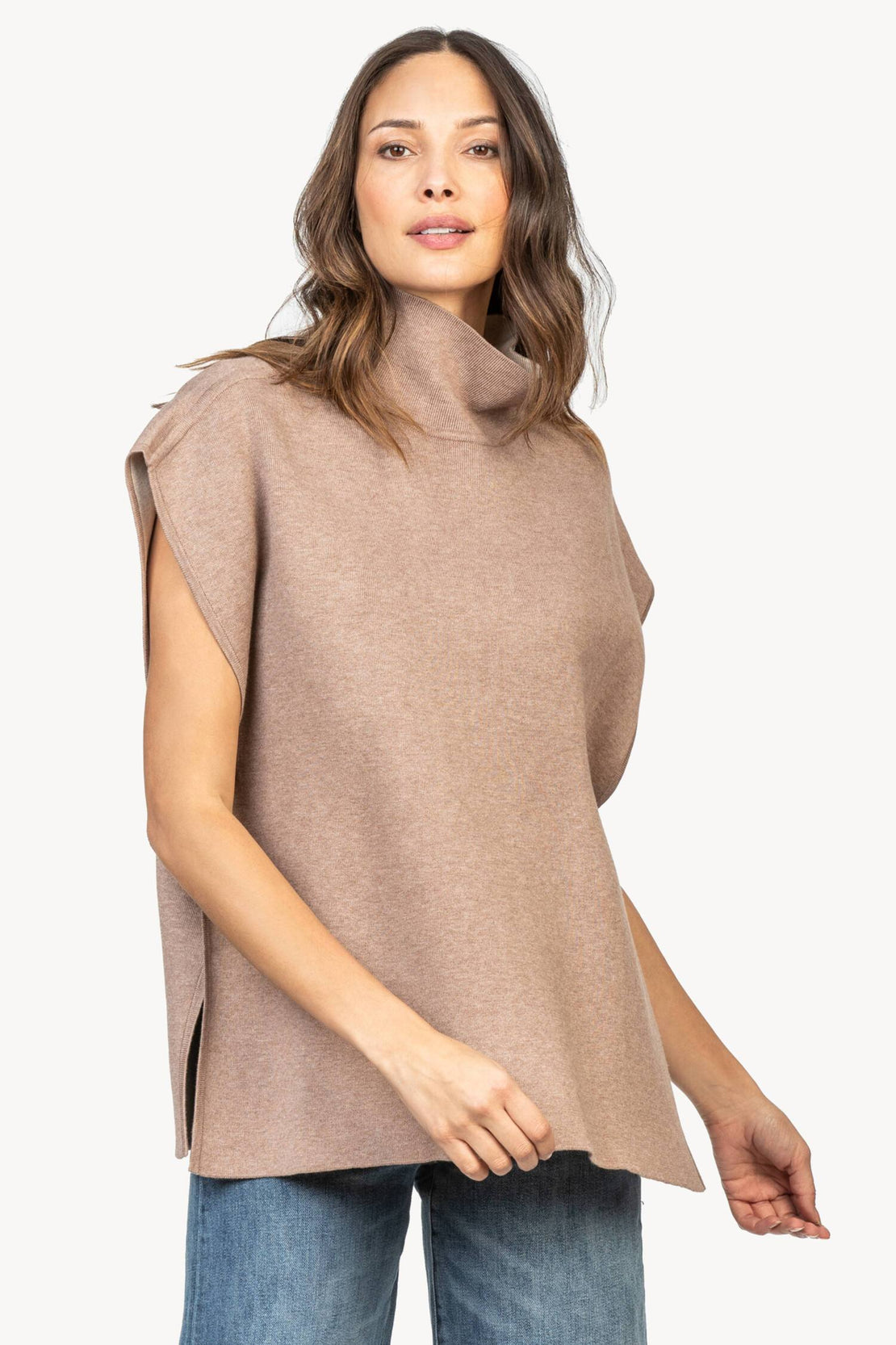 Ultra Comfortable Warm Revesible Knitted Poncho with side Buttons /& Nara PPL005