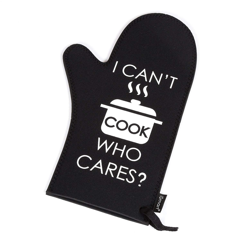 Black Neoprene Set of 3 pcs Oven Mitt, Baking Cooking Glove