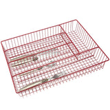 Creative Home SET OF 2 PC Large Wire Tray Red
