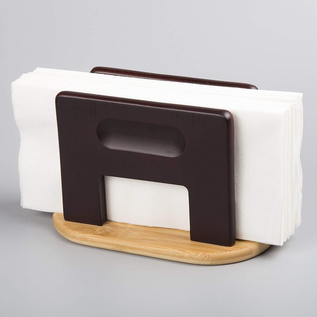 Stained Bamboo Napkin Holder, Espresso Color