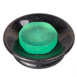 Creative Home SPA Collection Natural Black Marble Round Soap Dish