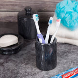Creative Home Internal Spa Collection Black Marble Tumbler ,Toothbrush Holder .