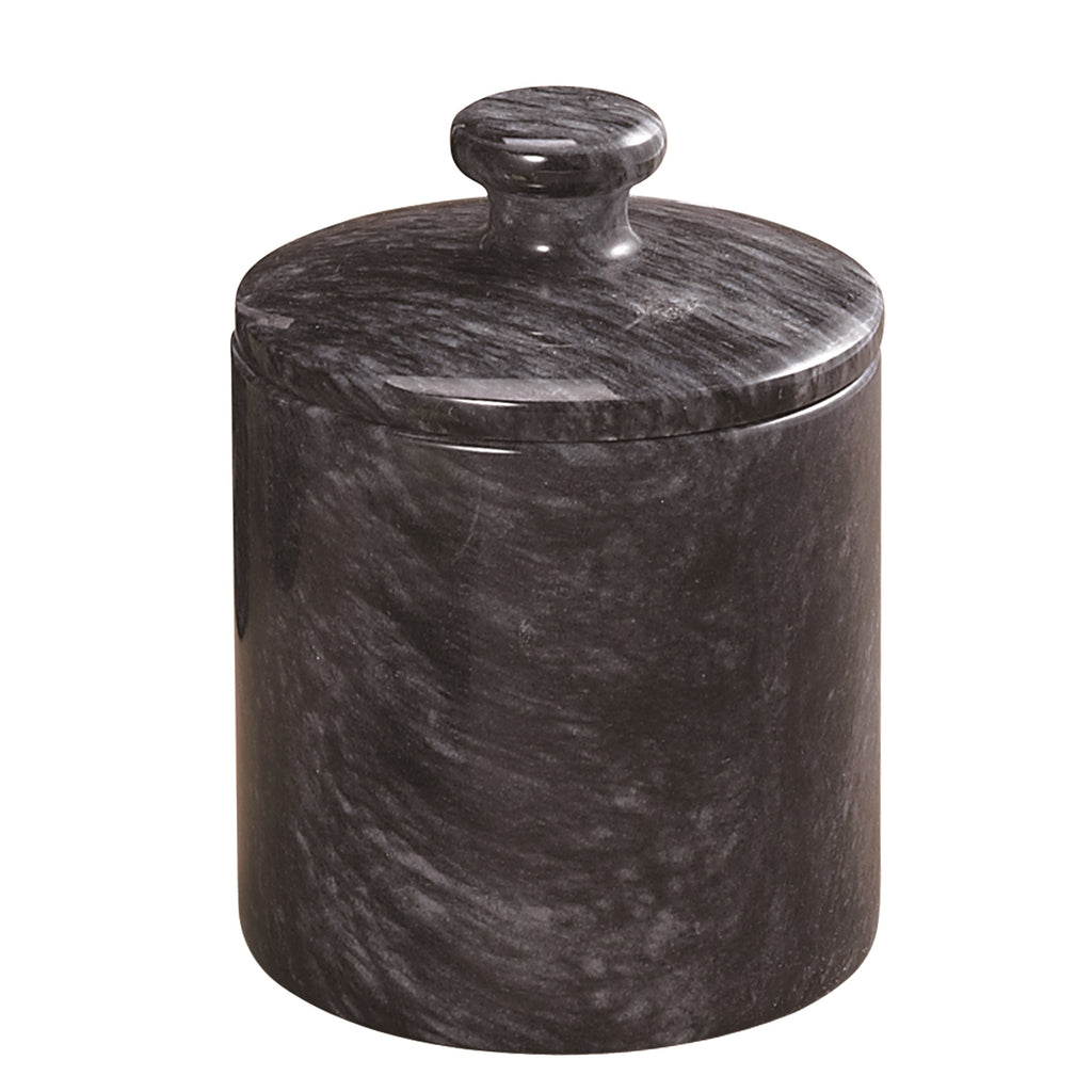 Creative Home Black Marble SPA Collection Cotton Ball Holder