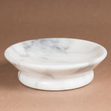 Creative Home Natural Marble Bar Dish Soap Holder Tray,  Off-White
