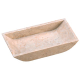 Creative Home Natural Champagne Marble Boat Shaped Guest Towel Organizer Tray