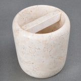 Creative Home Champagne Marble Boulder Deluxe Toothbrush Holder