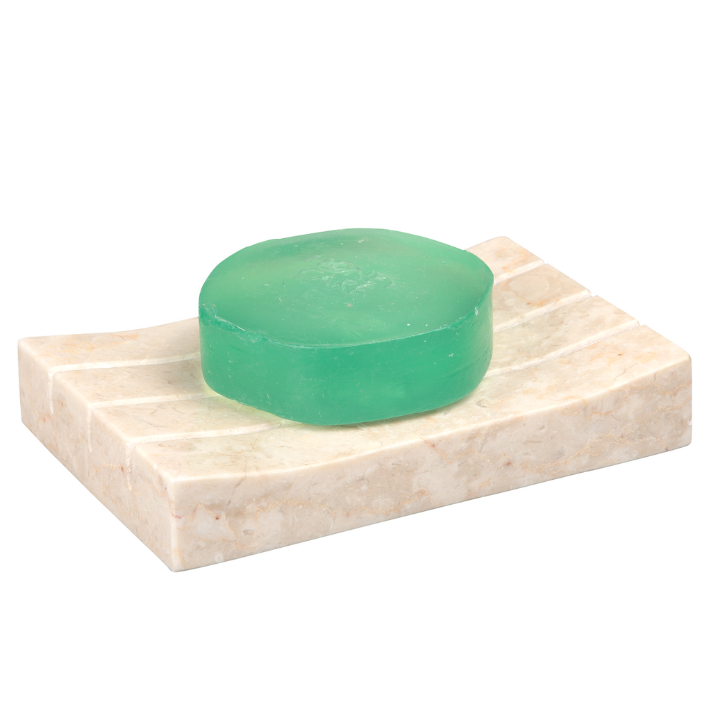 Creative Home Natural Champagne Marble Boulder Collection Soap Dish, Tray, Soap Holder