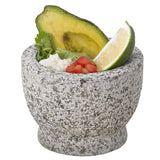 "Creative Home Natural Granite 5-1/2"" Diam. Unpolished Mortar & Pestle Set, Gray"