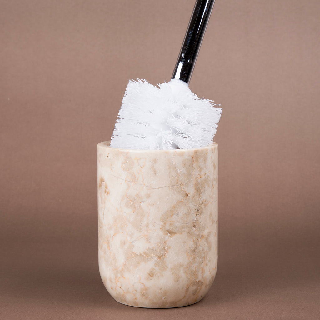 Creative Home Champagne Marble Toilet Brush Holder