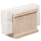 Creative Home Natural Champagne Marble Stone Napkin Holder, Stand, Dispenser, Beige