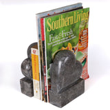 Creative Home Charcoal Marble Bookends Set - Heart