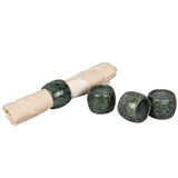 Creative Home Genuine Green Marble Stone Napkin Ring Set (Set of 4), Green