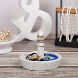 Creative Home Natural Terrazzo Stone Ring Holder Accessory Organizer Tray