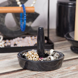 Creative Home Natural Black Marble Ring Holder Accessory Organizer Tray