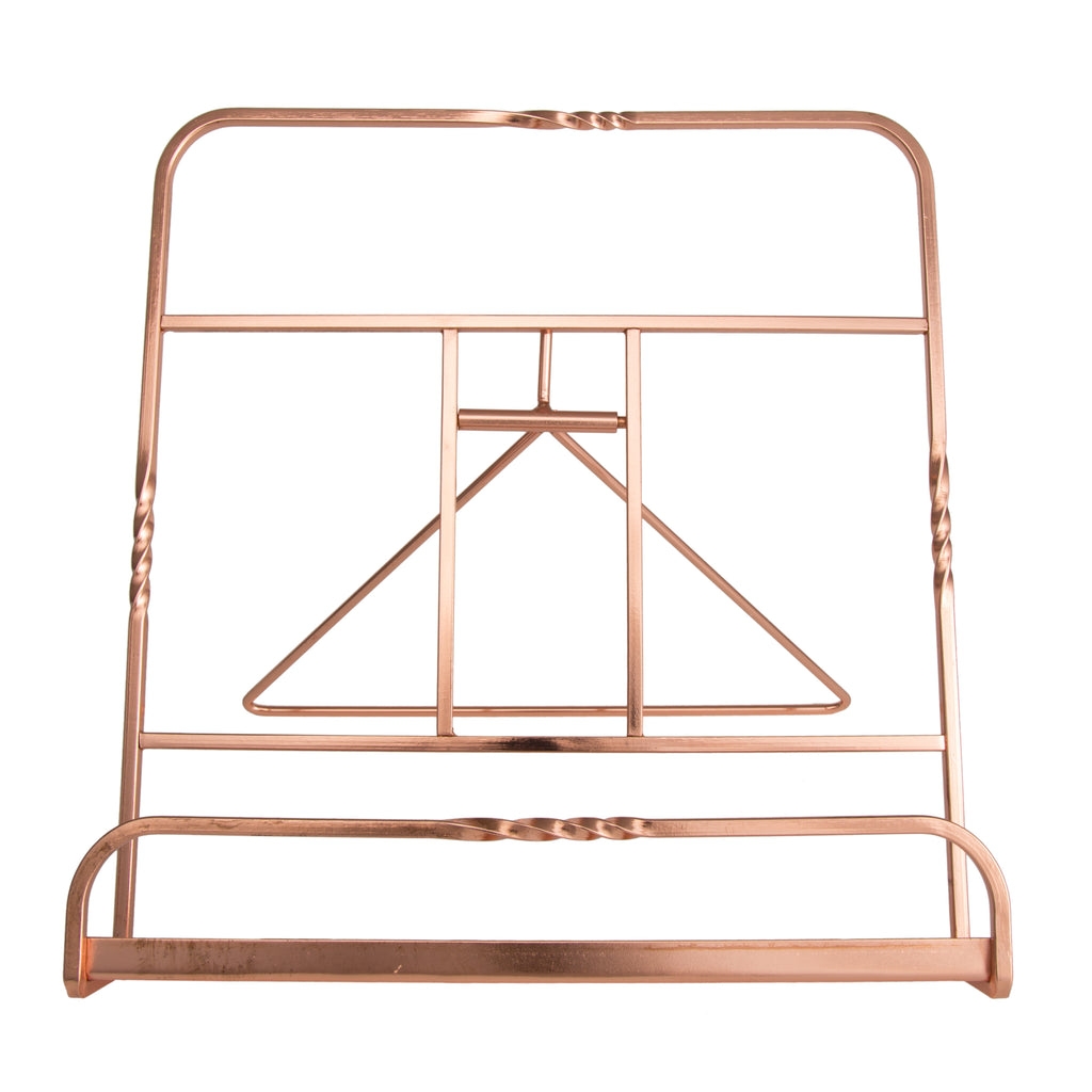 Creative Home Renaissance Copper Plated Cookbook Holder, Copper