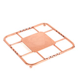 "Creative Home Renaissance Square Trivet, 8"", Copper"