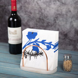 Creative Home Natural Marble and Wire Napkin Holder with Copper Finish