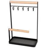 Creative Home Wire Jewelry and Watch Stand, Hanger, Organizer, Acacia Wood