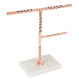 Creative Home Tree Stand with Natural Stone Marble Base Jewelry Organizer