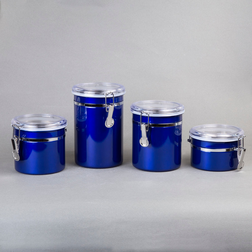 Creative Home 4-Pieces Stainless Steel Canister Container Set