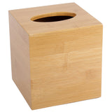 Creative Home Bamboo Square Box Cover Tissue Holder,