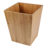 Creative Home Natural Bamboo Waste Basket, Recycle Bin