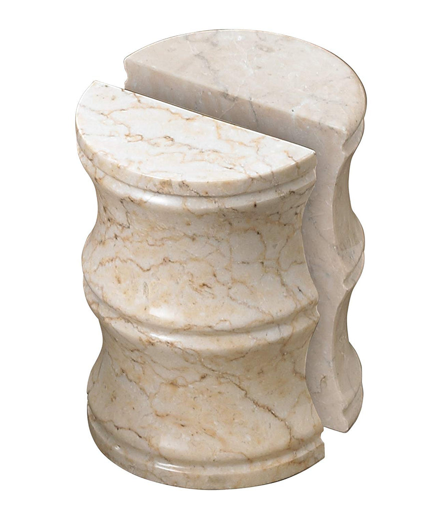 Champagne Marble Stone Set of 2 Pieces Bookend Set Kathy Style Beige
