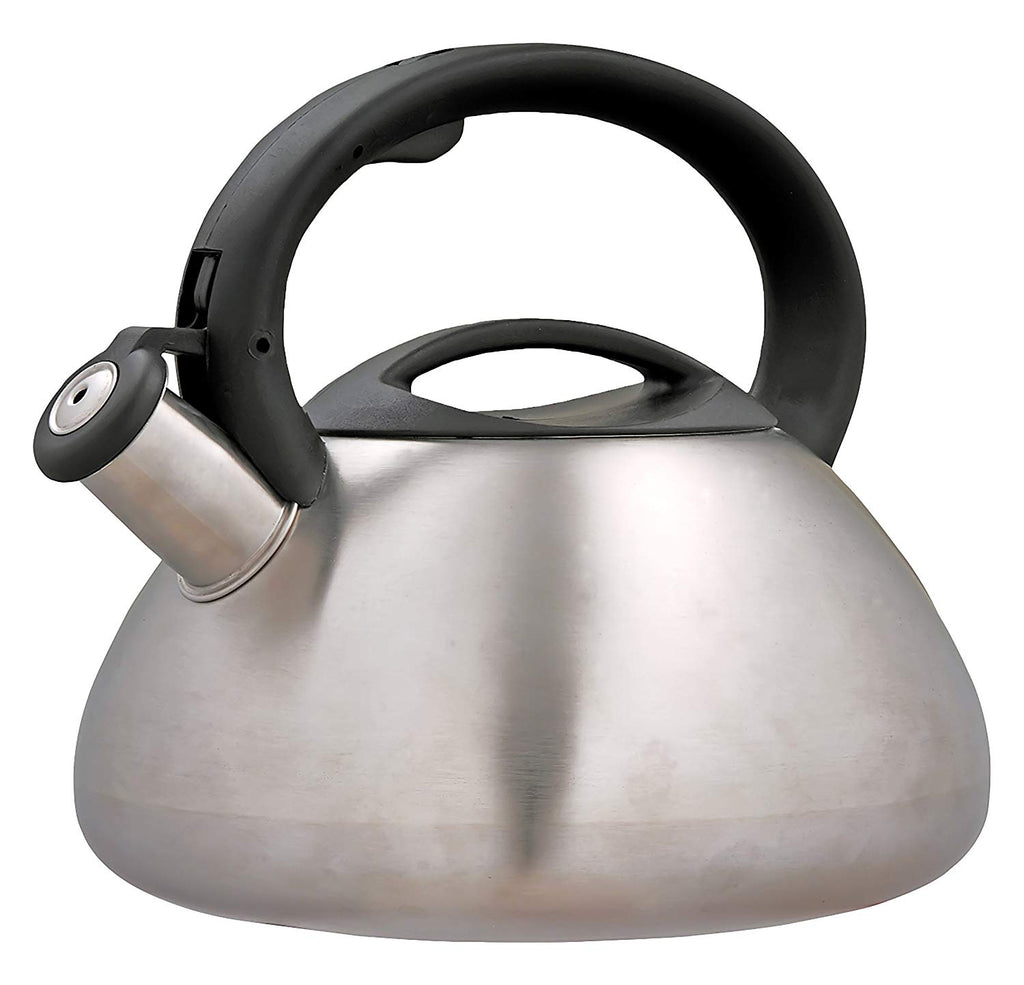 Sphere 3.0 Quart Stainless Steel Whistling Tea Kettle with Brushed Finish