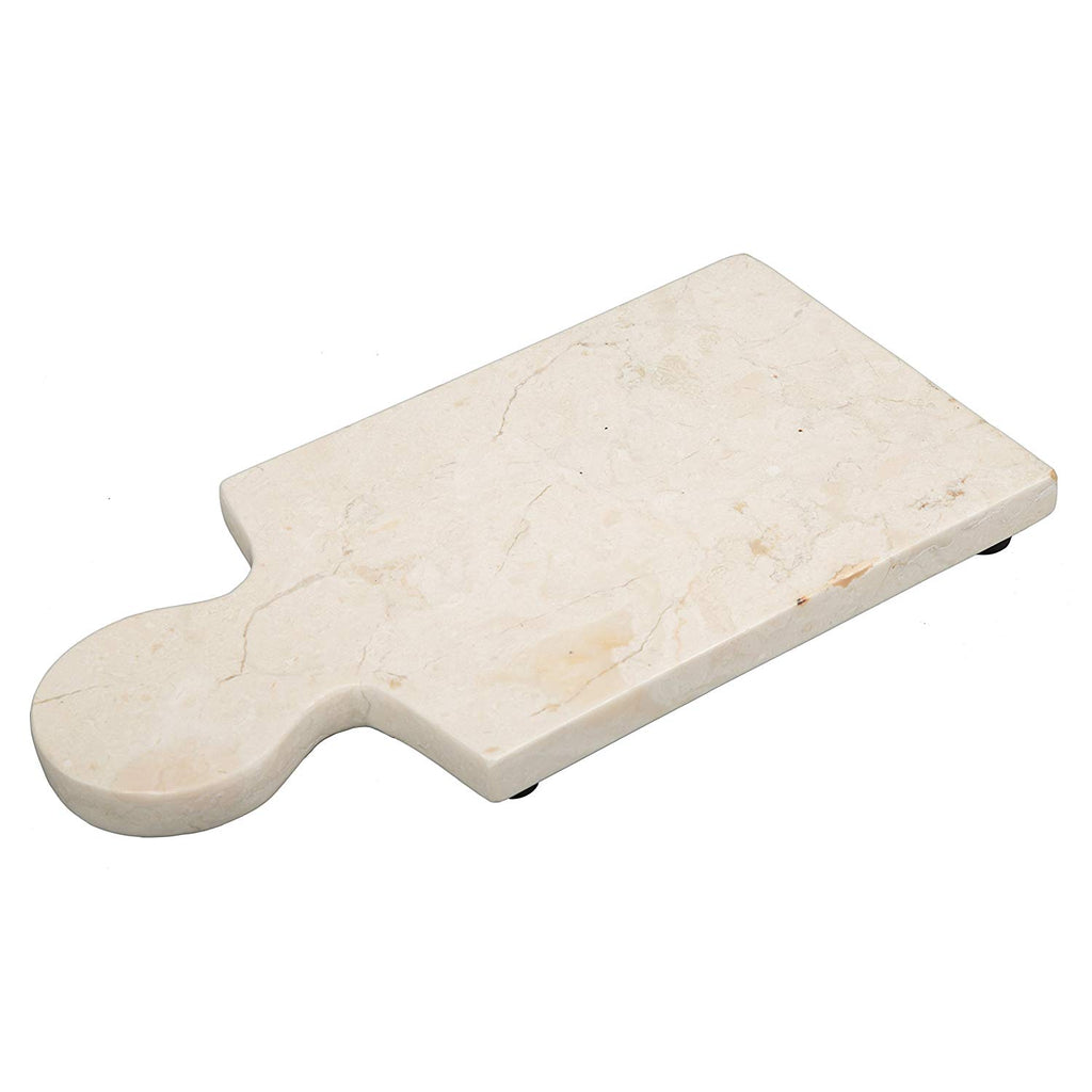 Creative Home Natural Champagne Marble Cheese Paddle Board, Serving Board