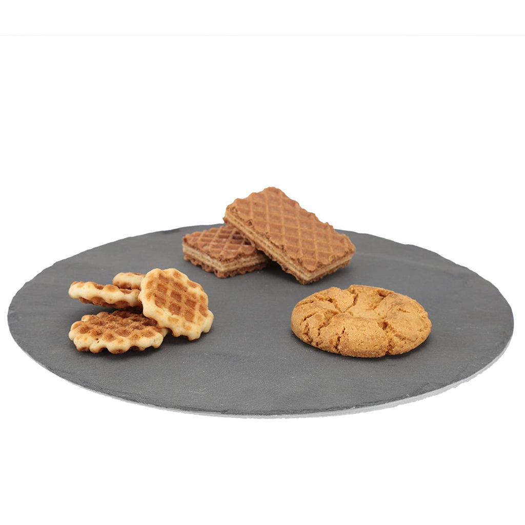 "Genuine Slate Lazy Susan, 12"" Diam."