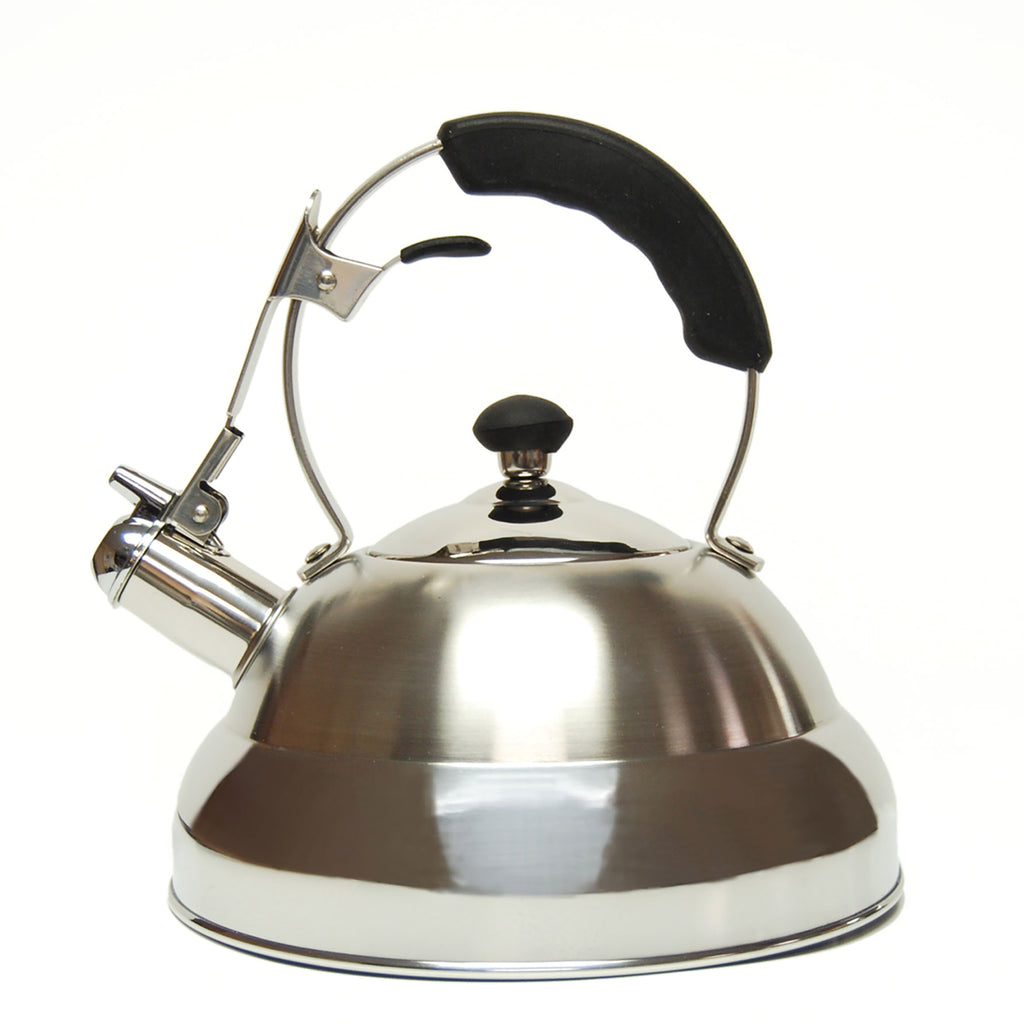 Creative Home Saturn 2.8 Qt Stainless Steel Whistling Tea Kettle with Aluminum Capsulated Bottom
