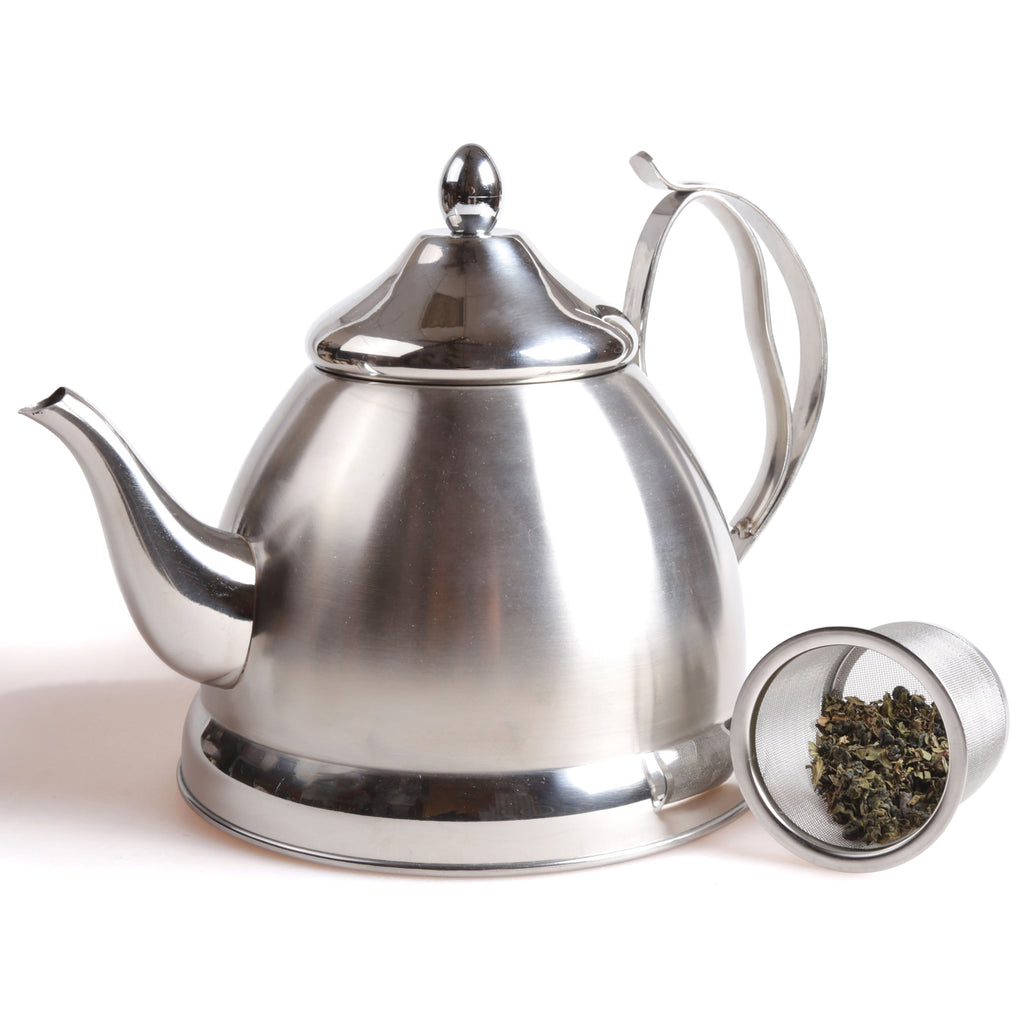 Creative Home Nobili-Tea 2.0 Qt. Tea Kettle with Removable Infuser Basket,